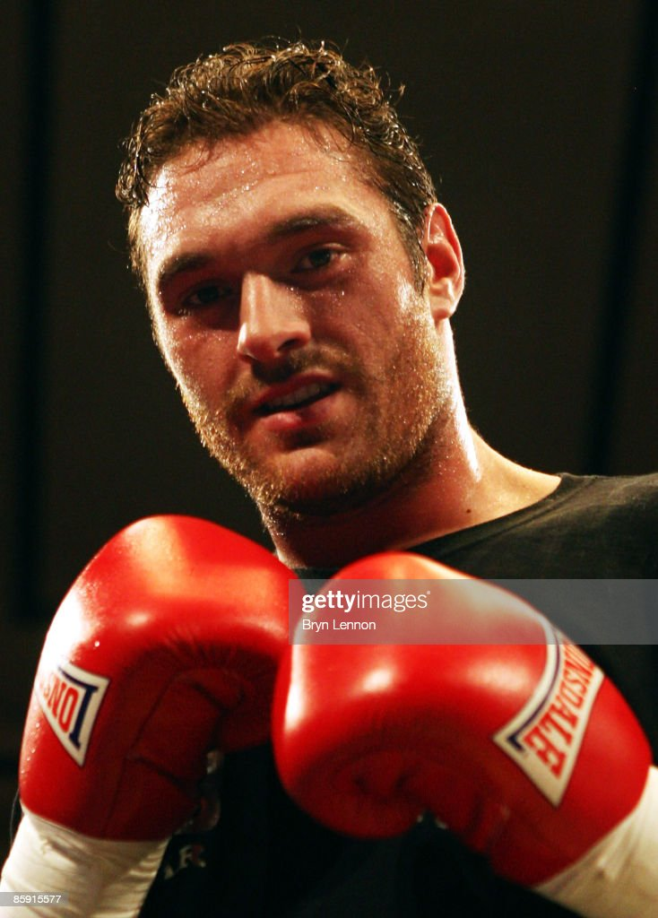 Tyson Fury poses after winning his heavyweight fight against Mathew Ellis prior to Commonwealth Welterweight Title fight between John O Donnell and Craig Watson at York Hall on April 11, 2009 in London, England.