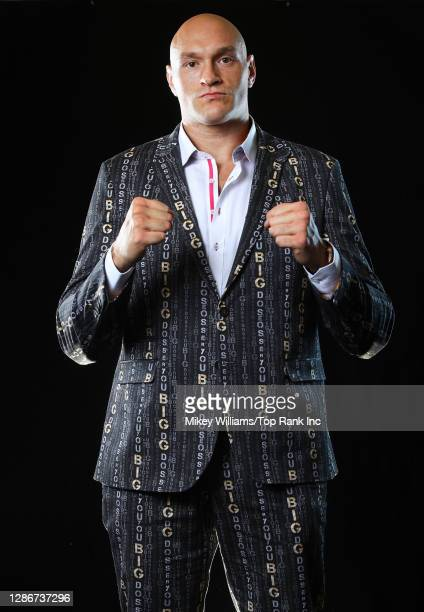 February 20: Tyson Fury poses for portraits inside the MGM Grand on February 20, 2020 in Las Vegas, Nevada.