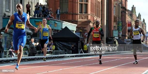 Tyson Gay of the US runs to win the Mens 200m during the Great city games in Manchester northwest England on May 16 2010 AFP PHOTO/PAUL ELLIS