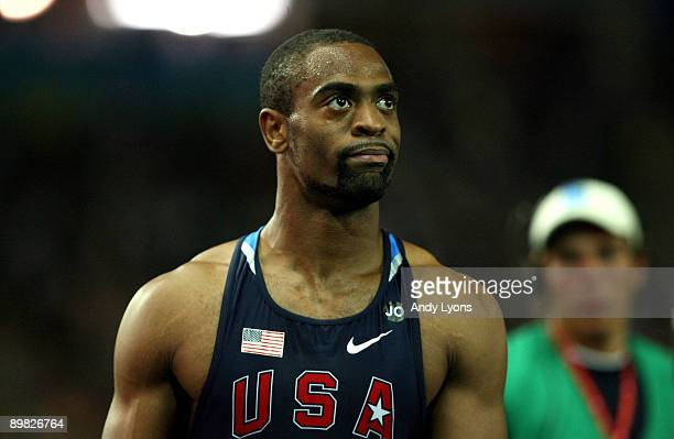 Tyson Gay of United States looks dejected after winning the silver medal in the men's 100 Metres Final during day two of the 12th IAAF World...