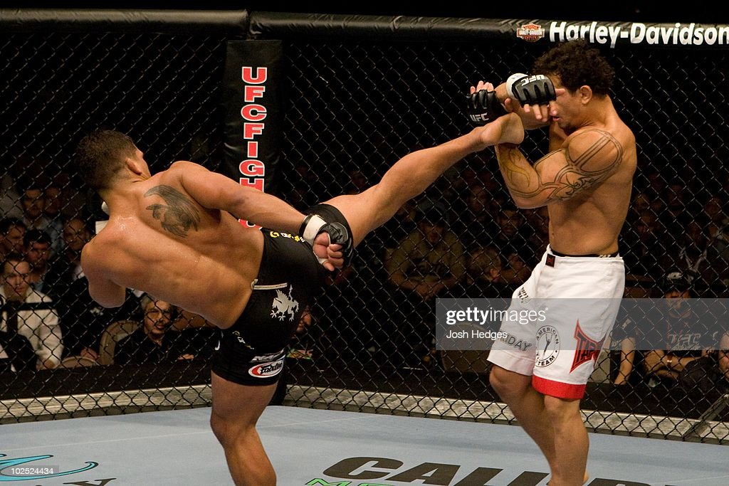 Tyson Griffin (black shorts) def. Gleison Tibau (white shorts) - Unanimous Decision during the UFC 81 at Mandalay Bay on February 2, 2008 in Las Vegas, Nevada.