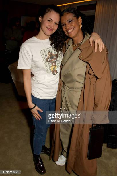 Tyson McVey and Neneh Cherry attend the Neneh Cherry and iD celebration of 30 years of 'Raw Like Sushi' at The London EDITION on January 23 2020 in...