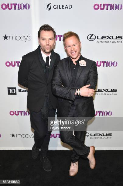 Tyson Murphy and Andrew Werner attend OUT Magazine #OUT100 Event presented by Lexus at the the Altman Building on November 9 2017 in New York City