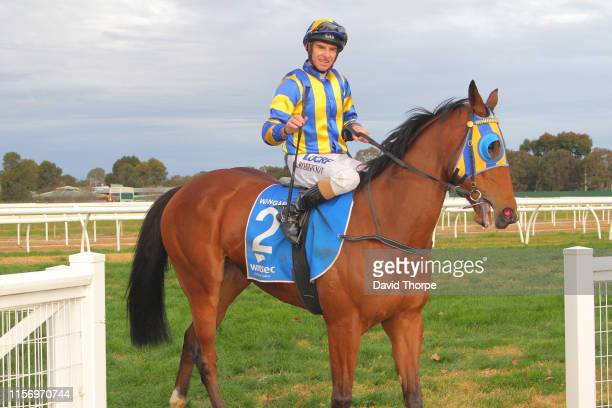 Tyson Returns ridden by Craig Robertson returns to the mounting yard after winning the Sam Miranda King Valley 0 58 Handicap on July 21 2019 in...