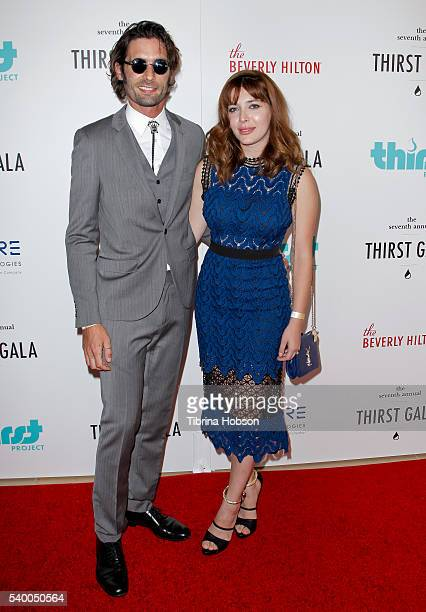Tyson Ritter and Elena Satine attend the 7th annual Thirst Gala at The Beverly Hilton Hotel on June 13 2016 in Beverly Hills California