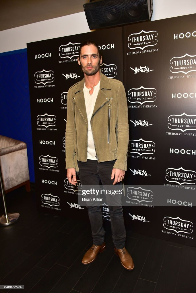 Tyson Ritter attends the Thursday Boot Company Presentation at Vandal on September 13, 2017 in New York City.