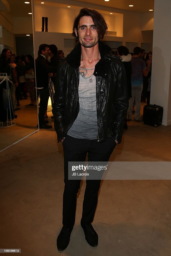 Tyson Ritter attends the TopMen Exclusive Pop Up Shopping Event at TopShop on January 9, 2013 in Los Angeles, California.
