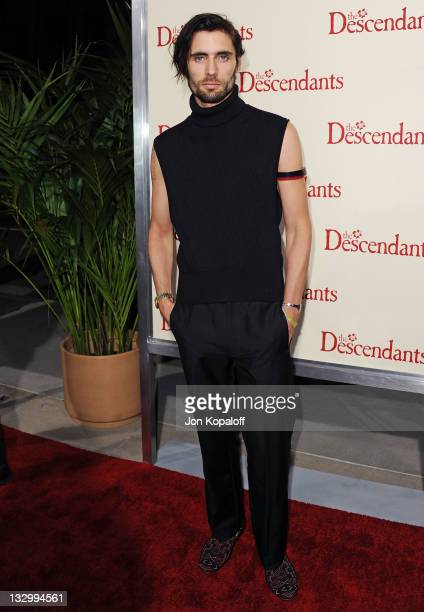 """Tyson Ritter of The All-American Rejects arrives at the Los Angeles Premiere """"The Descendants"""" at AMPAS Samuel Goldwyn Theater on November 15, 2011..."""