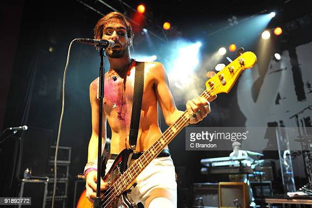 Tyson Ritter of The AllAmerican Rejects performs on stage at Shepherds Bush Empire on October 14 2009 in London England