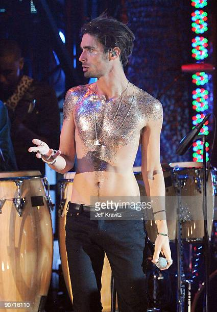 Tyson Ritter performs onstage during the 2009 MTV Video Music Awards at Radio City Music Hall on September 13 2009 in New York City