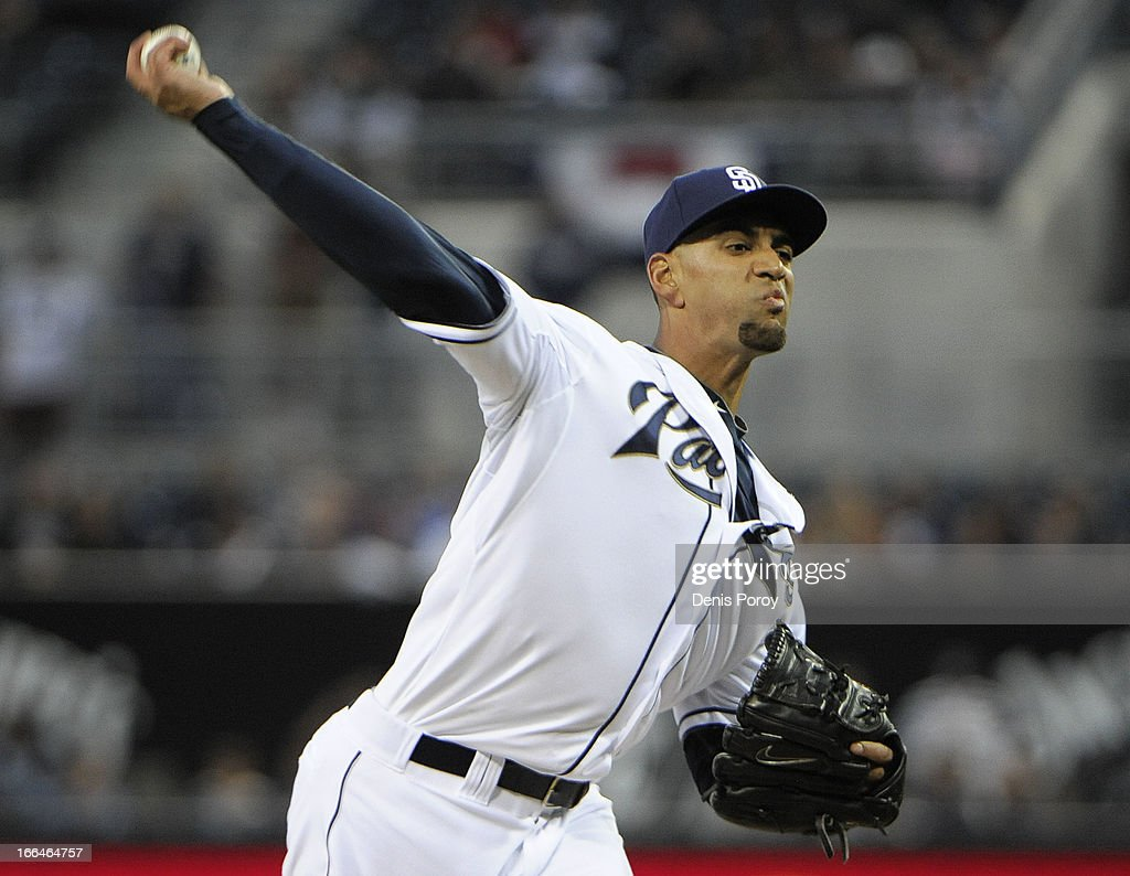 Tyson Ross #38 of the San Diego Padres pitches in the first inning against the Colorado Rockies at Petco Park on April 12, 2013 in San Diego, California.