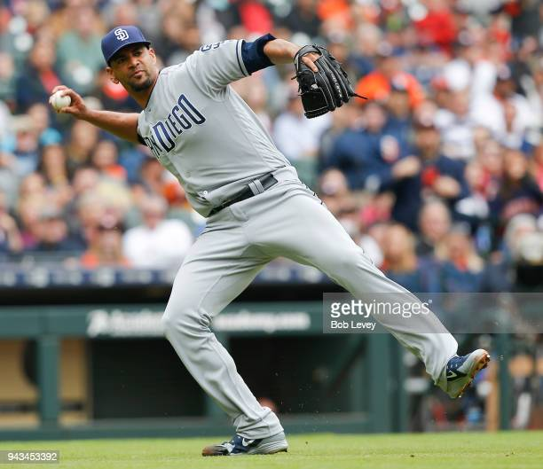 Tyson Ross of the San Diego Padres throws out Carlos Correa of the Houston Astros in the fourth inning at Minute Maid Park on April 8 2018 in Houston...
