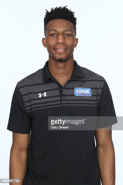 Tyus Battle poses for a head shot at the Body Image station for the Medical Evaluation portion of the 2018 NBA Combine powered by Under Armour on May...