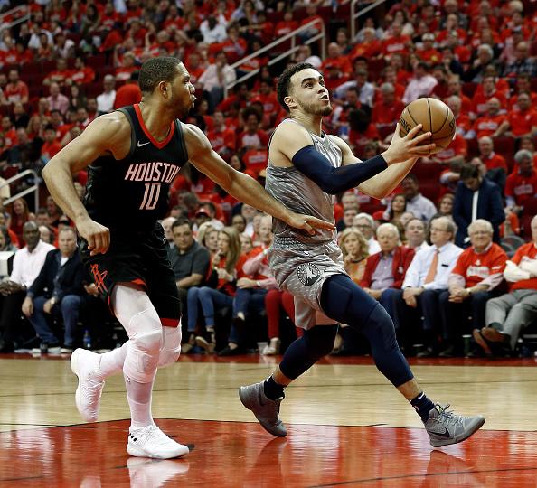 dcd16b97f ... 2017-18 Minnesota Timberwolves 0 Jeff Teague Statement Green  new d7260  cd990 Minnesota Timberwolves v Houston Rockets - Game Two ...