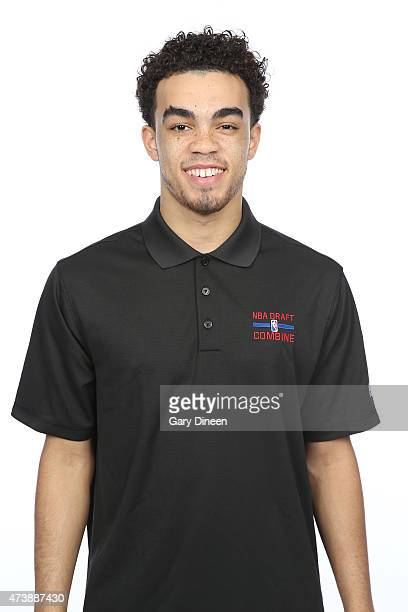 Tyus Jones poses for a headshot during the 2015 NBA Draft Combine on May 16 2015 at Northwestern Memorial Hospital in Chicago Illinois NOTE TO USER...