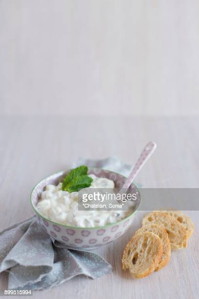 Tzatziki with goats cream cheese
