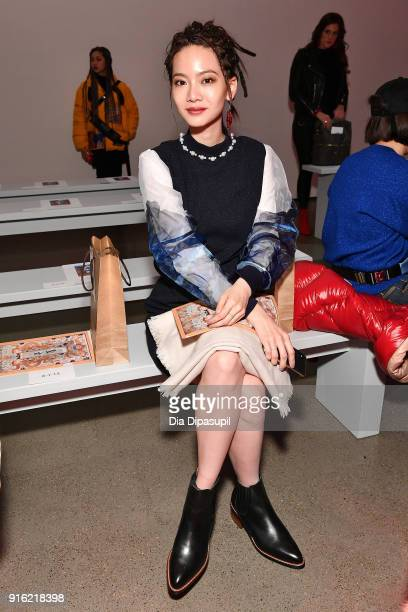 Tzeng ChihChiao attends the Just In XX presentation during New York Fashion Week The Shows at Gallery II at Spring Studios on February 9 2018 in New...
