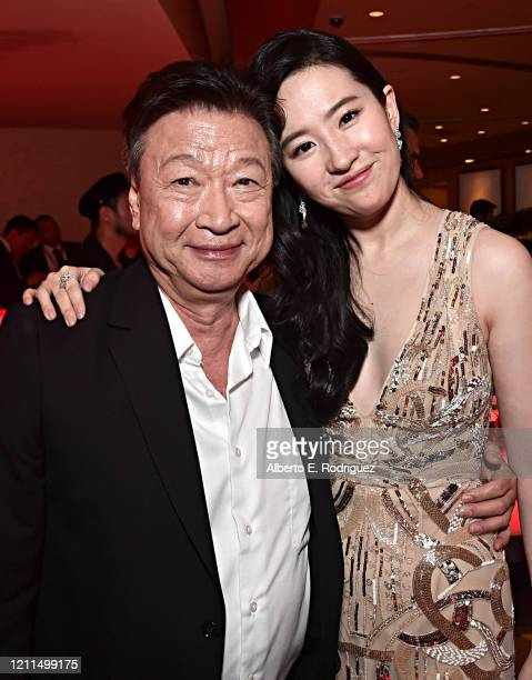 Tzi Ma and Yifei Liu attend the World Premiere of Disney's 'MULAN' at the Dolby Theatre on March 09 2020 in Hollywood California