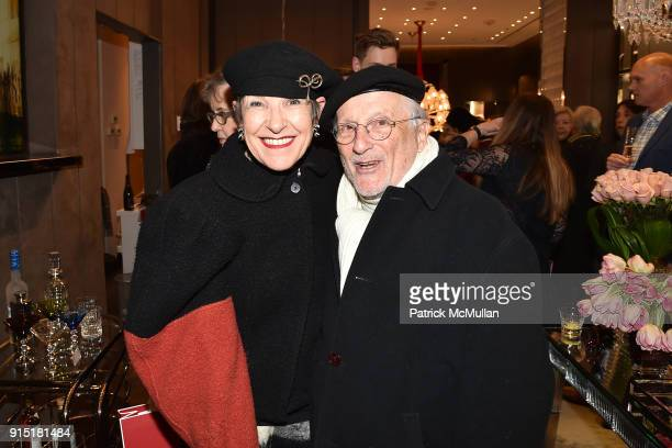 Tziporah Salamon and Stan Herman attend the launch of NORELL Master of American Fashion by Jeffrey Banks and Doria de La Chapelle hosted by Baccarat...
