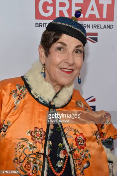 Tziporah Salamon attends the 2014 GREAT British Oscar Reception at British Consul General's Residence on February 28 2014 in Los Angeles California