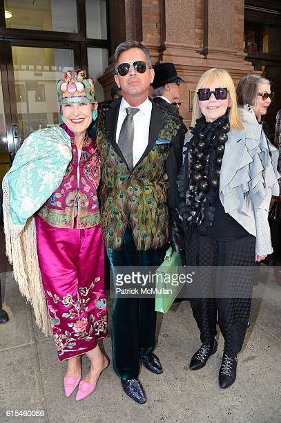 Tziporah Salamon Michael Flaherty and Marjorie Stern attend The New York Times Celebration of Bill Cunningham at Carnegie Hall on October 17 2016 in...