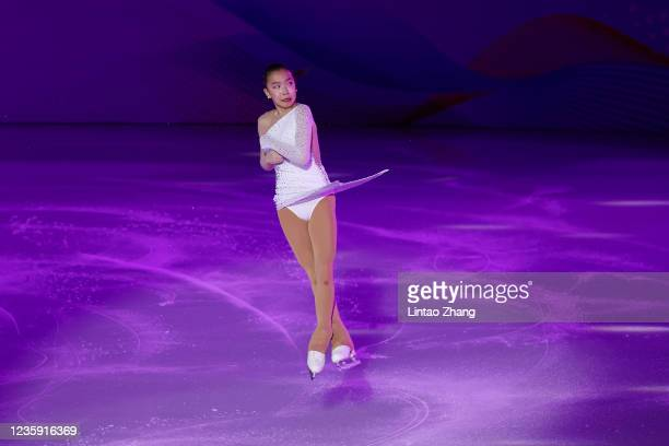 Tzu-Han Ting of Chinese Taipei performs in the gala exhibition during day 4 of the 2021 Asia Open Figure Skating test event for the Beijing 2022...