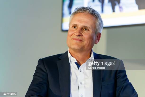 CEO S u K Marketing Klaus Cyron looks on during the press conference UEFA EURO 2020 100 days to go at Olympiahalle on March 3 2020 in Munich Germany