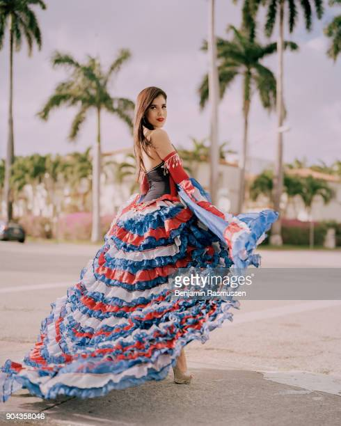 STATES 'u2013 JANUARY 10 2017 Miss Cuban American 2017 Jessica Mustelier poses for a portrait in Miami Beach Florida on January 10 2017 When...