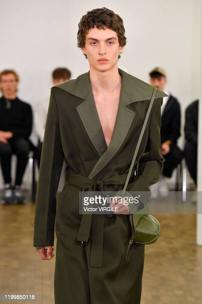 U2013 JANUARY 15: A model walks the runway during the JW Anderson Menswear Fall/Winter 2020-2021 show as part of Paris Fashion Week on January 15,...