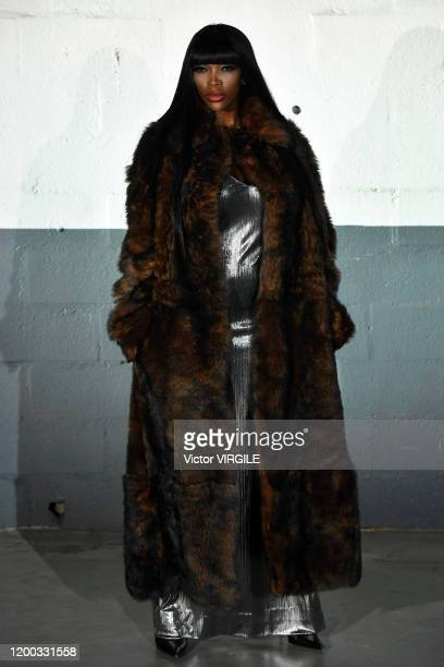 U2013 JANUARY 17: A model walks the runway during the Vetements Menswear Fall/Winter 2020-2021 fashion show as part of Paris Fashion Week on January...