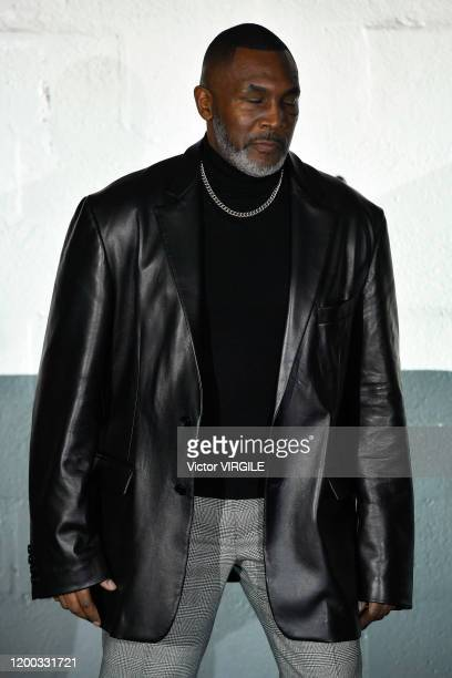 PARIS FRANCE u2013 JANUARY 17 Boxer Mike Tyson walks the runway during the Vetements Menswear Fall/Winter 20202021 fashion show as part of Paris...