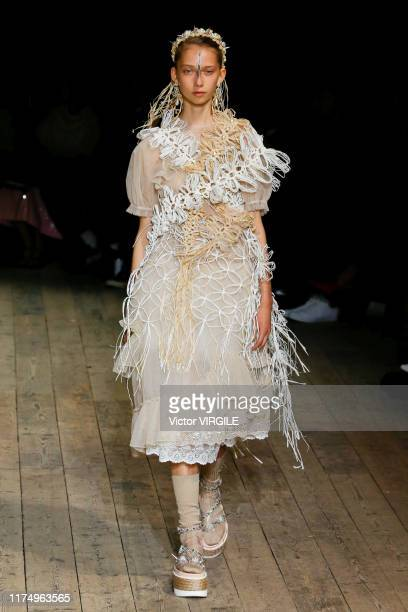 LONDON ENGLAND u2013 SEPTEMBER 15 A model walks the runway at the Simone Rocha Ready to Wear Spring/Summer 2020 fashion show during London Fashion...