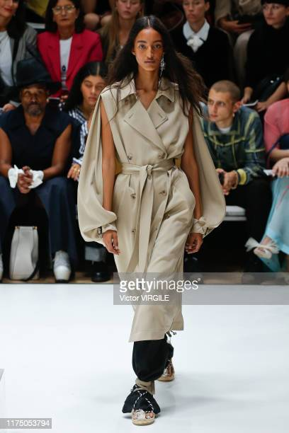 LONDON ENGLAND u2013 SEPTEMBER 16 A model walks the runway at the JW Anderson Ready to Wear Spring/Summer 2020 fashion show during London Fashion...