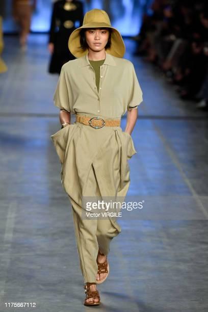 U2013 SEPTEMBER 18: A model walks the runway at the Alberta Ferretti Ready to Wear Spring/Summer 2020 fashion show during Milan Fashion Week...