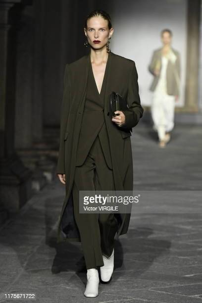 U2013 SEPTEMBER 18: A model walks the runway at the Jil Sander Ready to Wear Spring/Summer 2020 fashion show during the Milan Fashion Week...