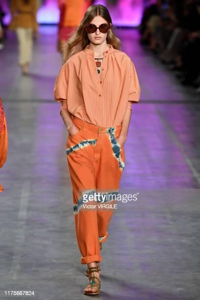 MILAN ITALY u2013 SEPTEMBER 18 Felice Noordhoff walks the runway at the Alberta Ferretti Ready to Wear Spring/Summer 2020 fashion show during Milan...
