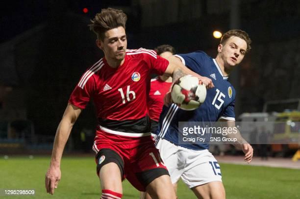 Scotland's Eamonn Brophy closes down Andorra's Garcia Gonzalez Christian