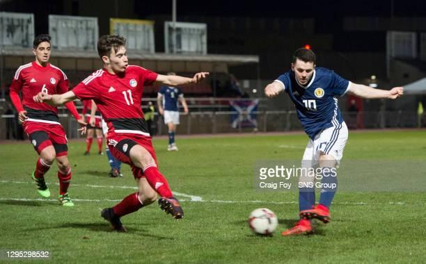 Scotland's Lewis Morgan scores to make it 1-1