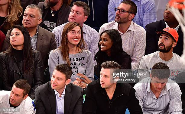 Ubah H An And Guest Attend New York Knicks Vs Oklahoma City Thunder Game At Madison Square