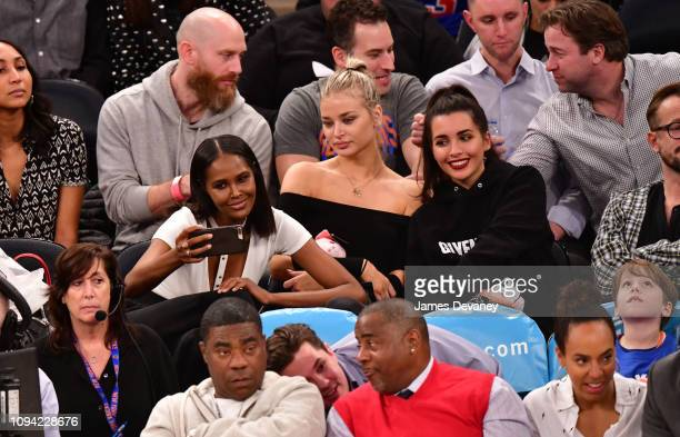 Ubah Hassan and guests attend Detroit Pistons v New York Knicks game at Madison Square Garden on February 5 2019 in New York City