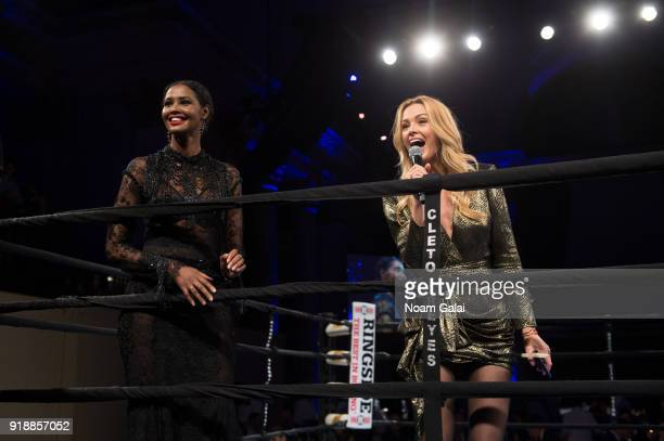 Ubah Hassan and Petra Nemcova speak at the All Hands and Hearts Smart Response Third Annual Fight For Education gala at Cipriani Wall Street on...