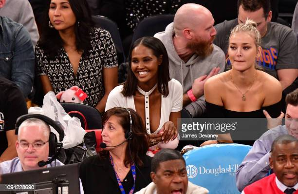 Ubah Hassan attends Detroit Pistons v New York Knicks game at Madison Square Garden on February 5 2019 in New York City