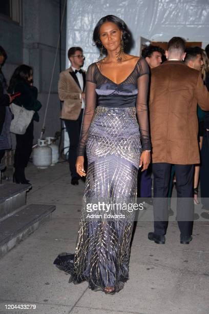 Ubah Hassan outside the amFAR Gala held at Cipriani Wall St on February 5, 2020 in New York City.
