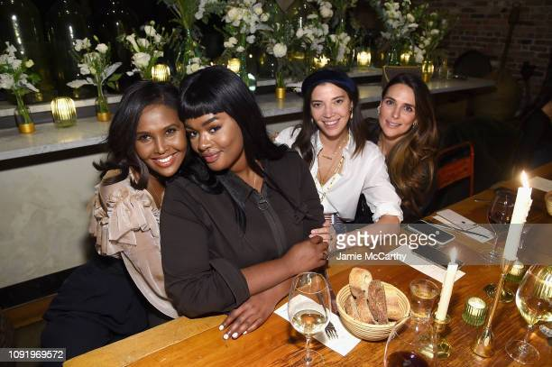 Ubah Hassan Precious Lee Tina Marie Clark and Melissa Wood attend as Aerie celebrates #AerieREAL Role Models in NYC on January 31 2019 in New York...