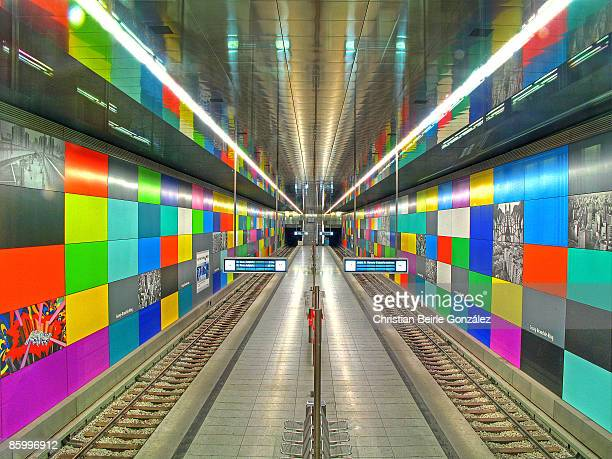u-bahn -  georg-brauchle-ring - christian beirle stock pictures, royalty-free photos & images