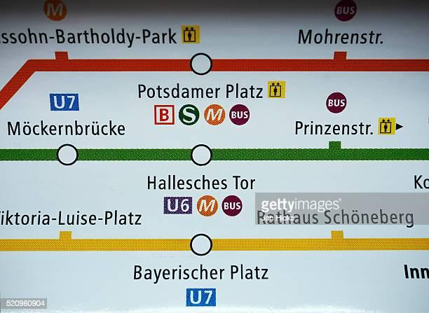 u-bahn route map. - u bahn stock-fotos und bilder