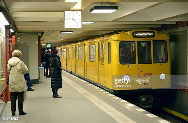 UBahn U4 Bahnhof Innsbrucker Platz Schoeneberg Berlin Deutschland / Schöneberg
