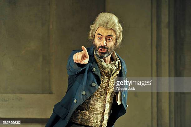 Ubberto Chiummo as Don Magnifico in Glyndebourne's production of Gioachino Rossini's La Cenerentola directed by Peter Hall and conducted by James...