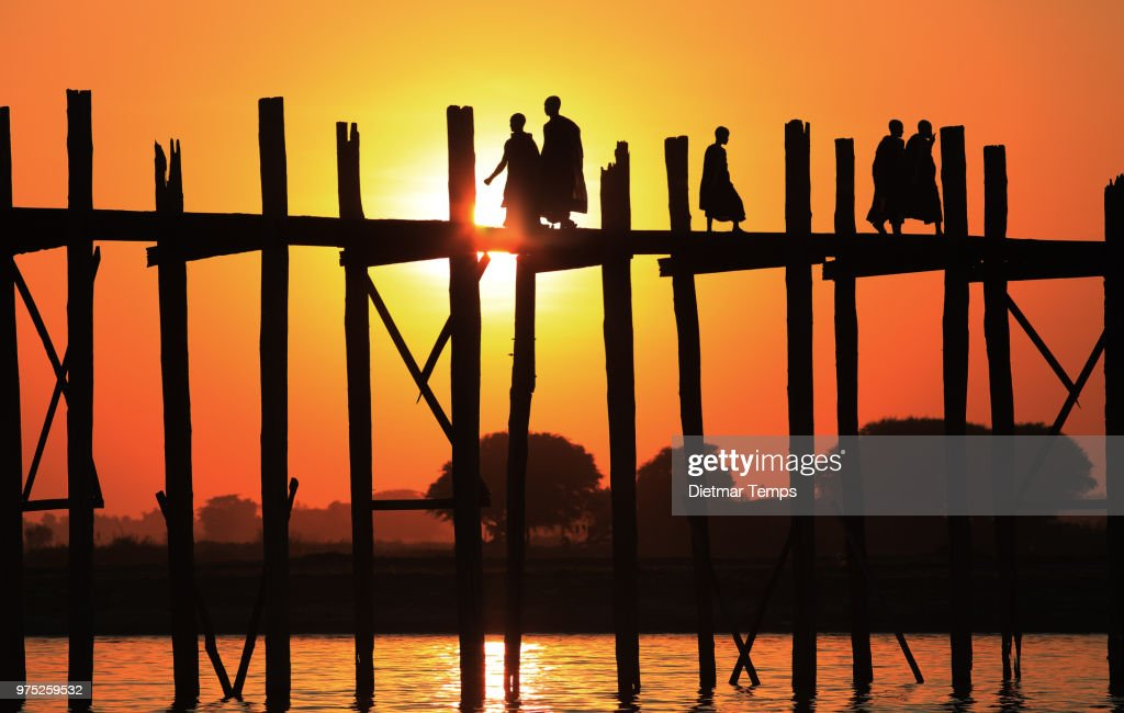 U-Bein Bridge, Myanmar (Burma) : Stock-Foto