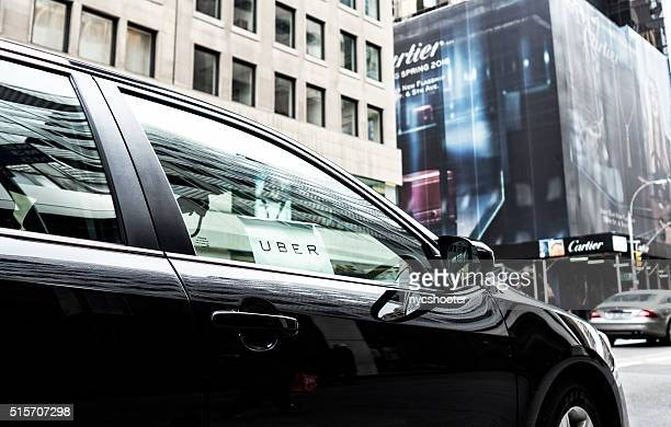 uber car service in new york city - uber stock photos and pictures